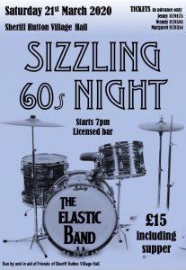 Sizzling 60s Night @ Sherriff Hutton Village Hall